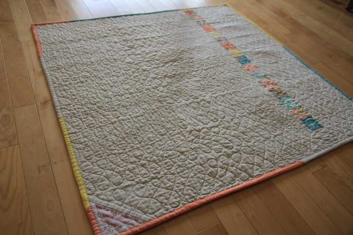 the quilt back